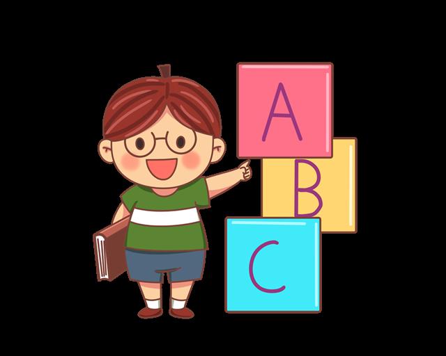 儿童英语培训班ABC插画