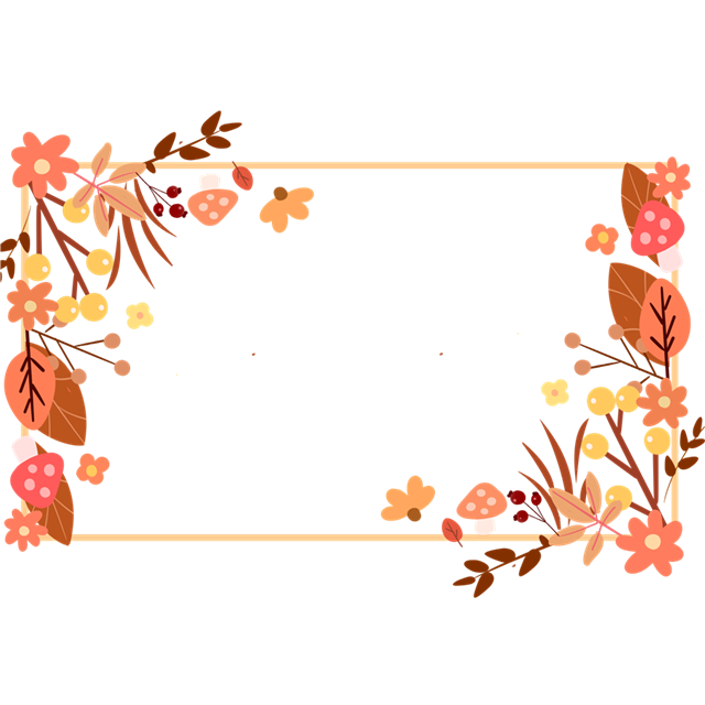 冬季文艺植物边框