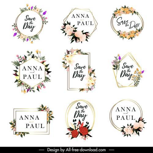 婚礼装饰花卉图标