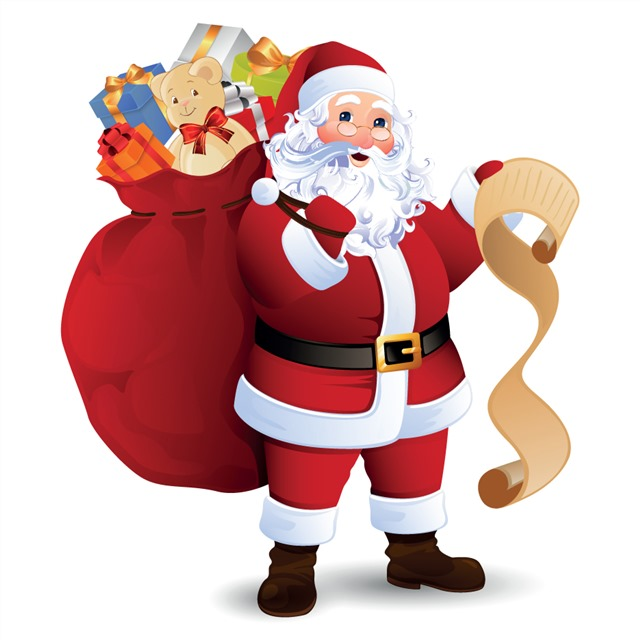 圣诞老人礼物广告插画