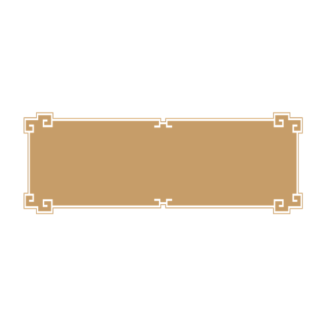 金色中国风矩形边框