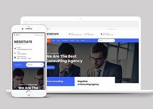 商业咨询机构bootstarp网站模板