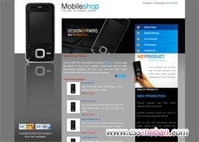 IPHONE手机网站模板