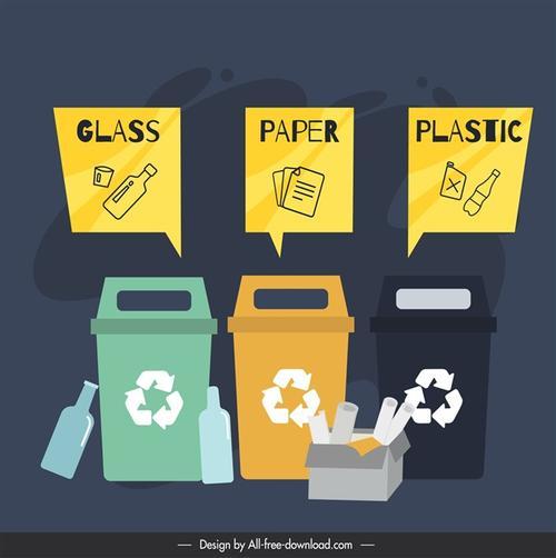 垃圾回收卡通图片