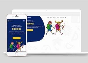 儿童幼教早教培训机构公司网站模板