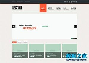 多图展示企业网站整站模板