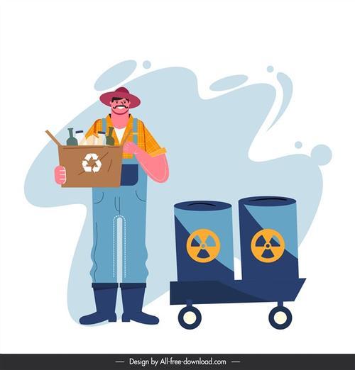 垃圾分类工作人员