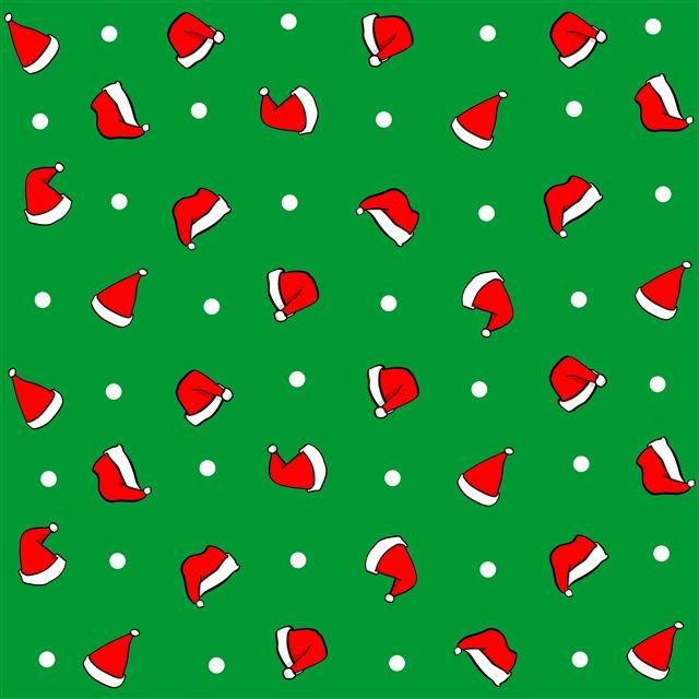 圣诞帽无缝背景