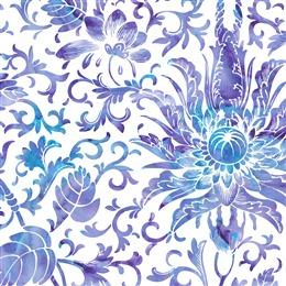 紫色花卉图案无缝背景