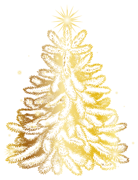 png免抠金色圣诞树