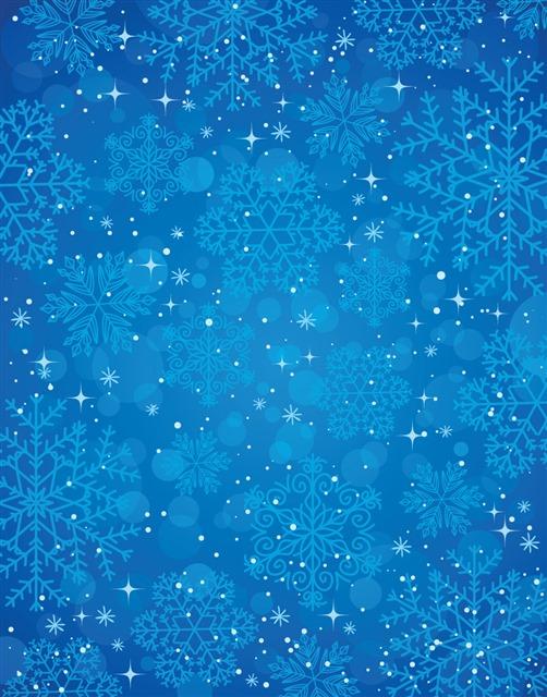 蓝色雪花背景墙