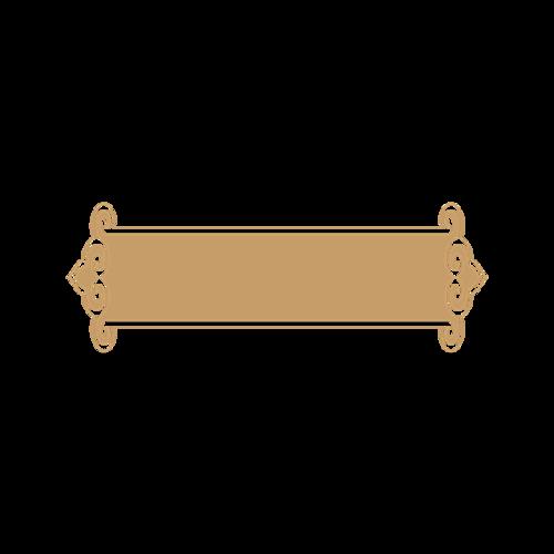 简约金色古典边框