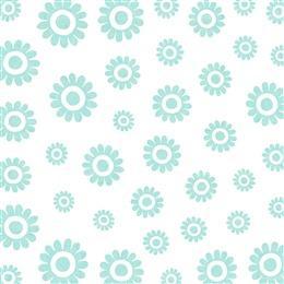绿色清新手绘花朵无缝背景
