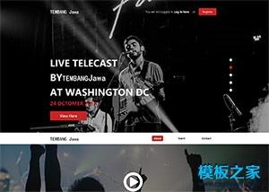 LIVE活动策划音乐节html5模板