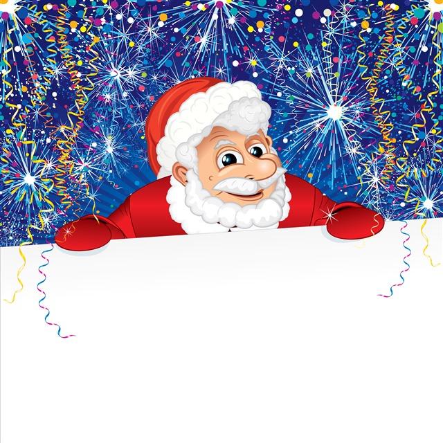 卡通圣诞老人公告牌