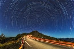 PS星轨合成图
