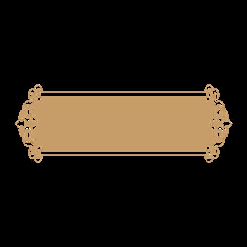 金色复古中式边框图片