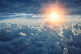 日出破晓天空图片
