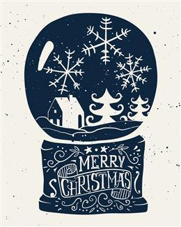 手绘圣诞节背景