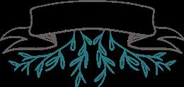 手绘植物标题标签