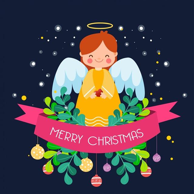 圣诞贺卡插画简笔画图片