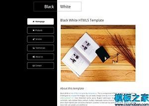 黑白产品介绍HTML5网站模板