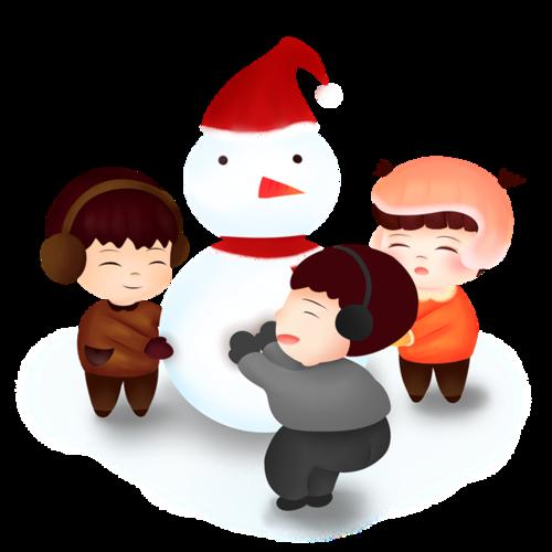冬至堆雪人