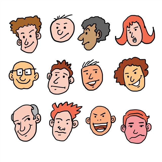 卡通手绘人脸