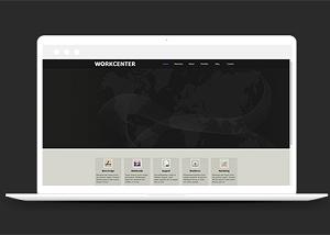 黑白图文排版展示网站模板