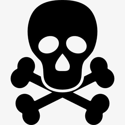 骷髅头危险警告图标