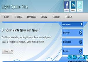 浅蓝色多应用网站模板