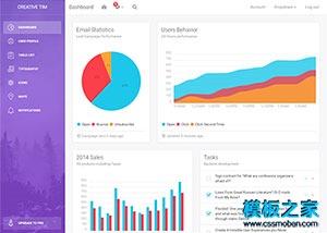 软件UI界面后台管理系统模板