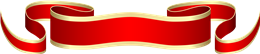 红色金边彩带标题标签