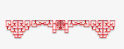 中式古典窗户边框