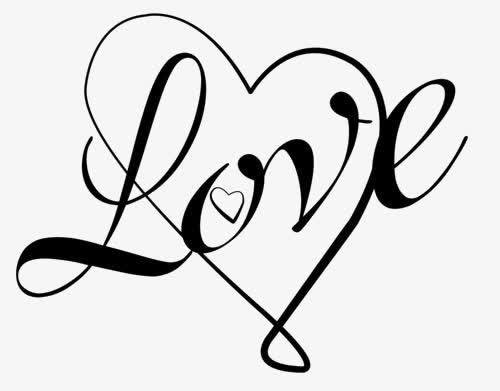 LOVE爱心艺术字装饰