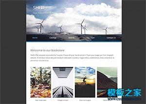 极简洁外贸产品展示网页模板