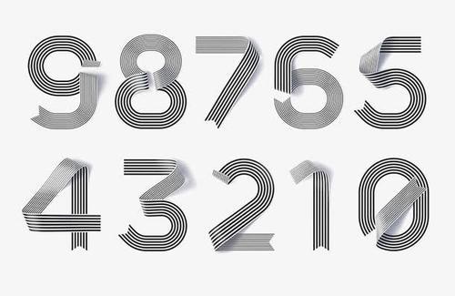 阿拉伯数字艺术字体设计