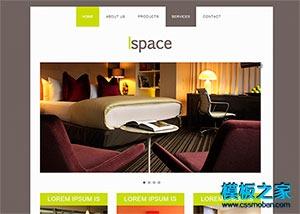 家居装修产品企业网站模板