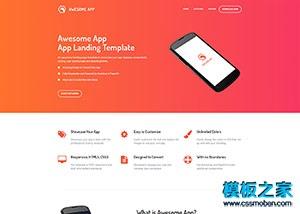App引导页创业公司网站模板