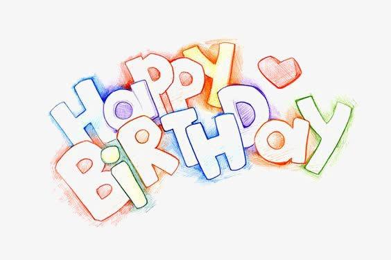 彩色生日快乐英文字体