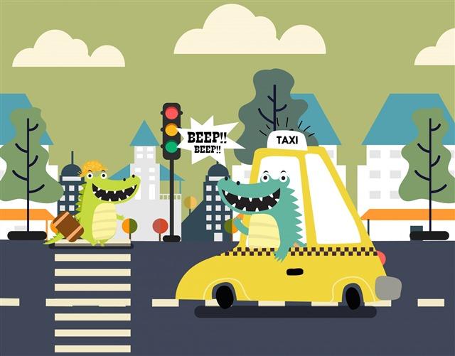 幼儿园遵守交通规则图片