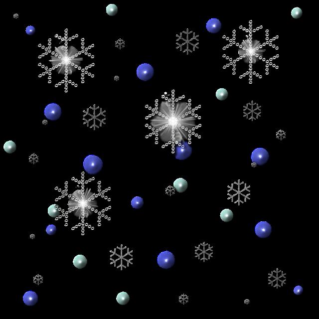 免抠下雪效果漂浮元素
