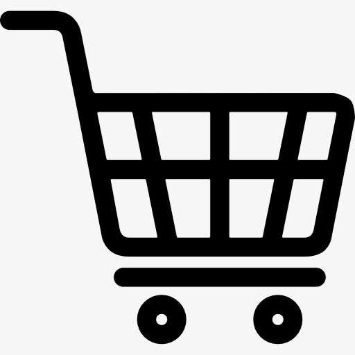 线性矢量购物车图标