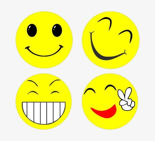 开心黄脸表情包素材