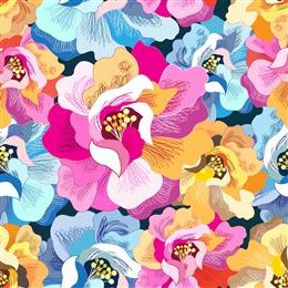 抽象手绘花朵背景图片