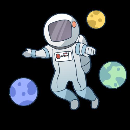 卡通宇航员太空人