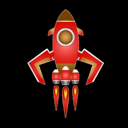 嫦娥五号火箭卡通图片