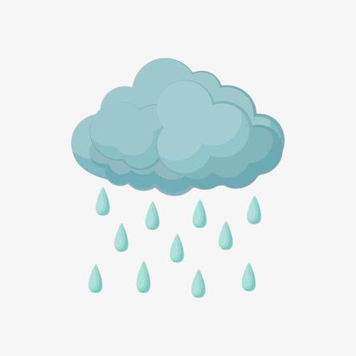 卡通下雨图标