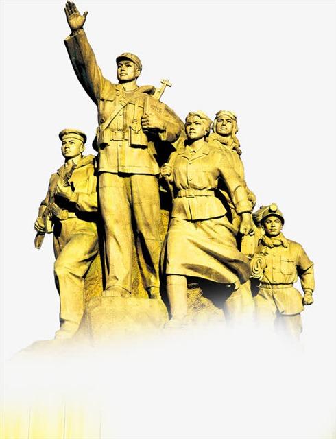 革命军人雕像