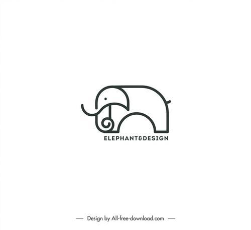 大象简笔画logo